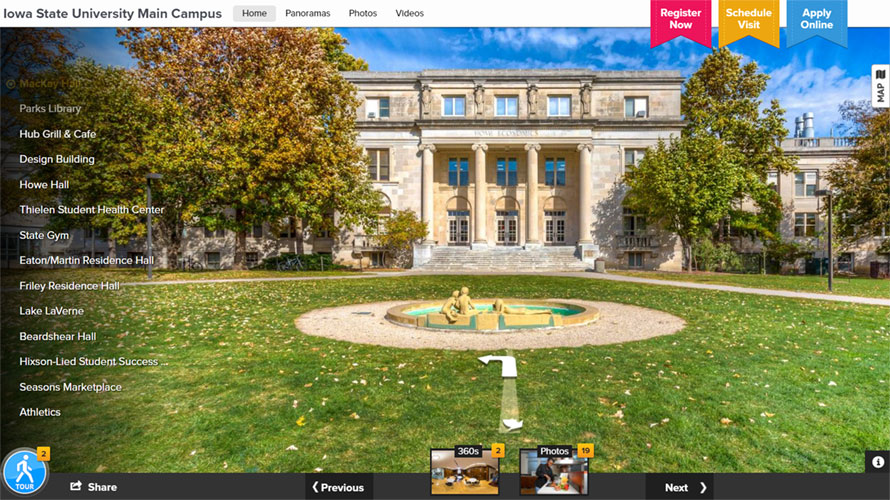Virtual Tour of Iowa State Campus