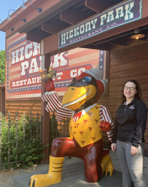 Hannah Geist standing outside of Hickory Park