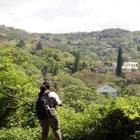 Apparel, Merchandising, and Design Major, Jemie Ilunga, on a hike.